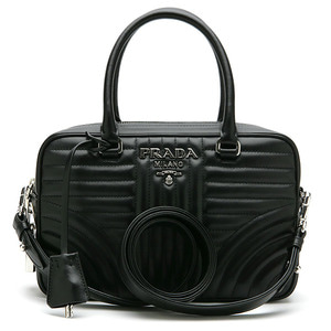 PRADA 1BB113 SOFT CALF IM NERO