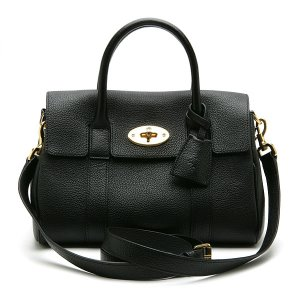 MULBERRY BAYSWATER SATCHEL CLASSIC GRAIN BLACK HH5629/033A100